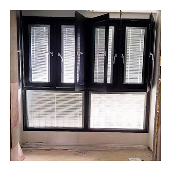 Commerical residential open inward double glazed casement window with security block