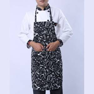 FINGON adjustable with Pockets - Durable Black Stripe Kitchen and Cooking Apron for Women and Men - Professional Stripe Chef Apron for All Cooking, Grill and Barbeque