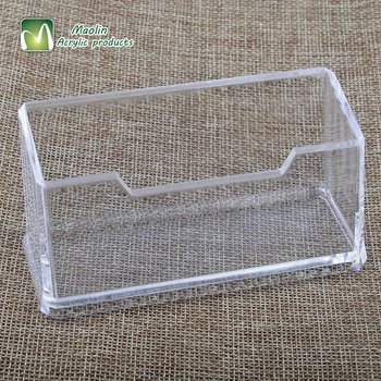 2018 wholesale Clear Acrylic Business Card Holder Stand