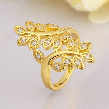 Trendy Innovative Design Inlay Zircon Plated Gold Ladies Arab