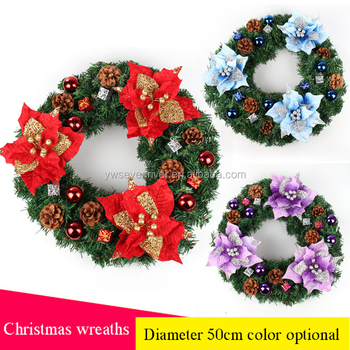 Christmas Decorations Factory Whole Door Hanging Mall Hotel Supermarket Decoration Layout Wreath