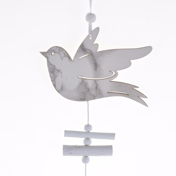 Bird Dove Of Peace Hanging Wedding Favors Gifts Wooden White Heart