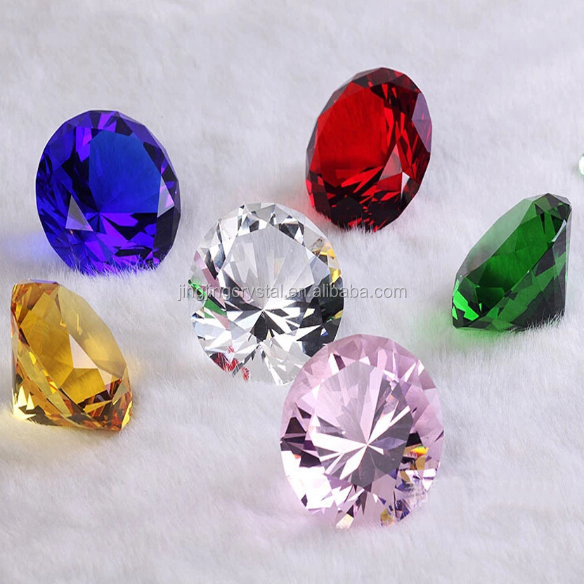 Cut Glass Crystal Rough Red Decorative Glass Diamond In Wedding&Holiday Decoration/gifts