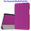 3 Folio PU Leather Tablet Case for Huawei MediaPad M3 Case Cover