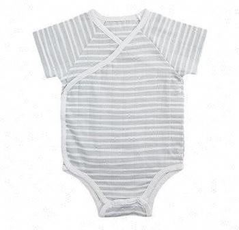 702cb49a61d0 Newborn Baby Clothes Sets Baby Plain White Romper Baby Stripe Romper ...