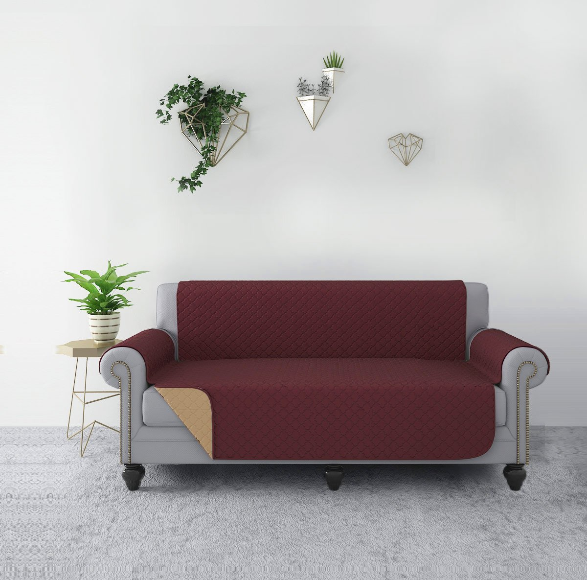 Get Quotations Rhf Reversible Sofa Cover Couch Covers For 3 Cushion