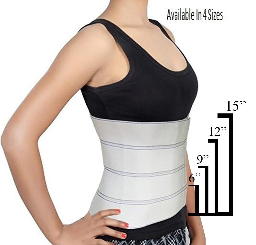 """Abdominal Binder Support Post-Operative, Post Pregnancy And Abdominal Injuries. Post-Surgical Abdominal Binder Comfort Belly Binder (Small (30"""" - 45""""), 6"""" High)"""