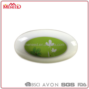 White oval melamine dish machine made melamine simple design plate from China