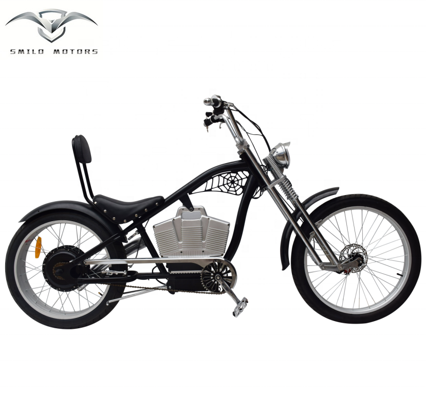 Smilo Echopper Best Selling Electric Chopper Bike 1000w With 48v Battery  And Suspension Fork - Buy Electric Chopper Bike 1000w,Moped Chopper