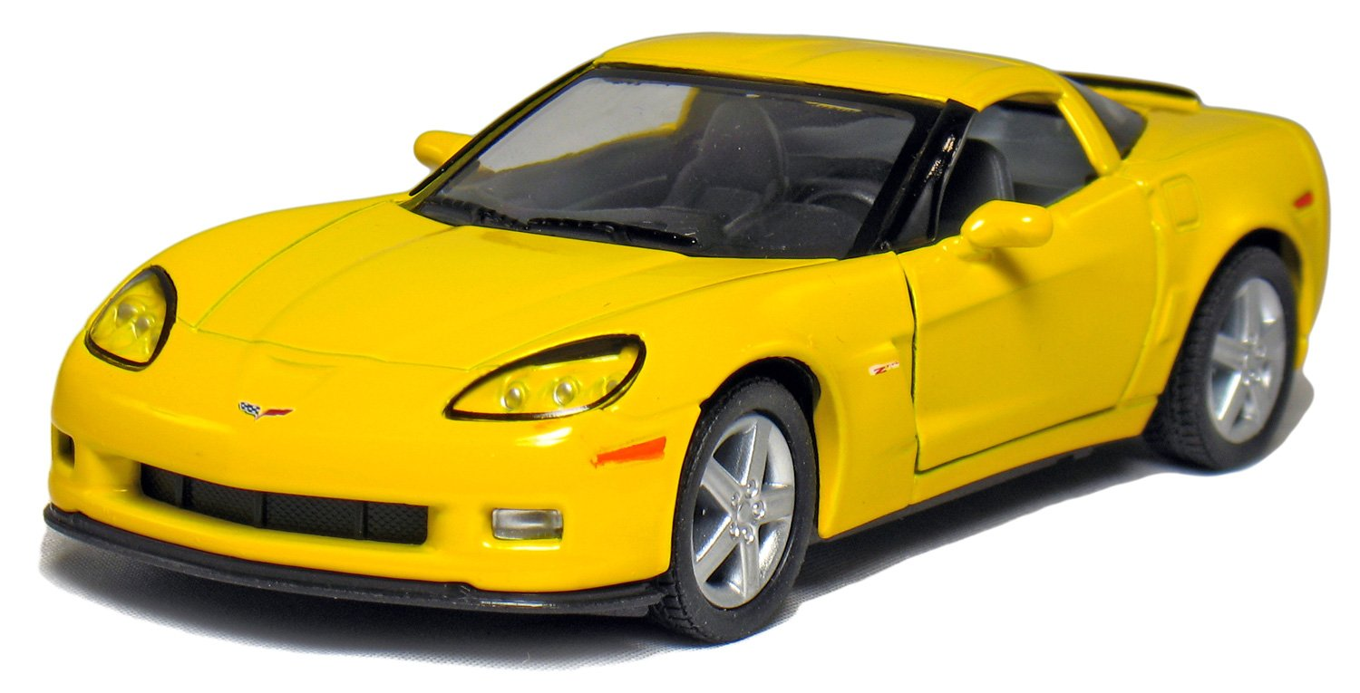 "5"" 2007 Chevy Corvette Z06 1:36 Scale (Yellow) by Kinsmart"