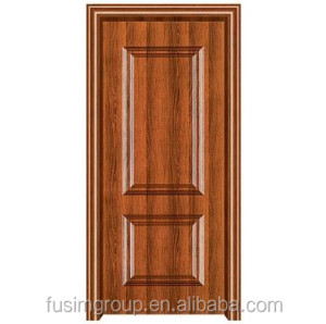Modern Steel wooden HDF material armored building door