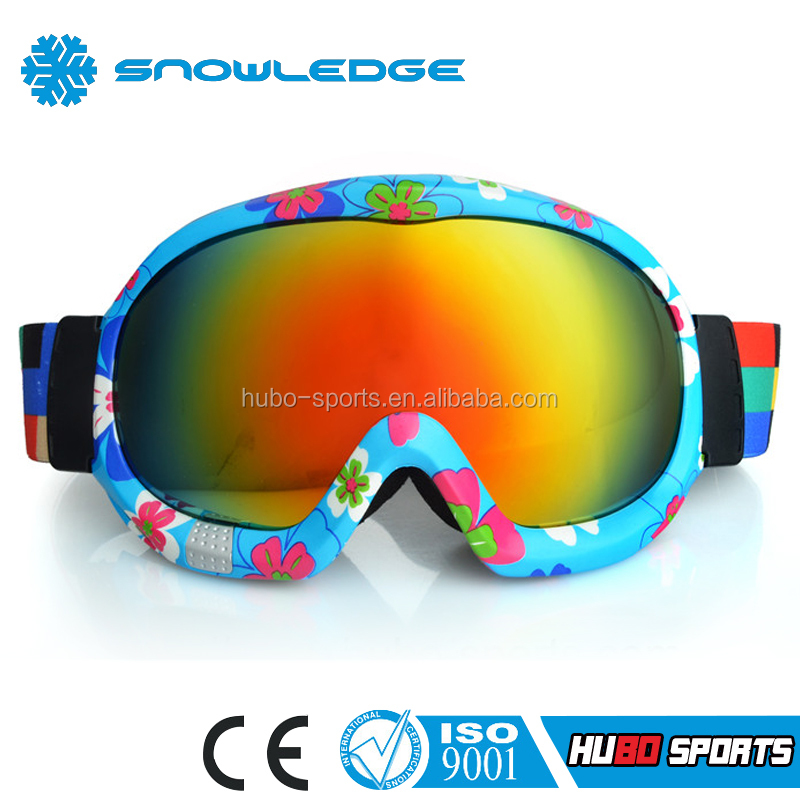China snowboard binding adjustable OEM model best skiing goggle