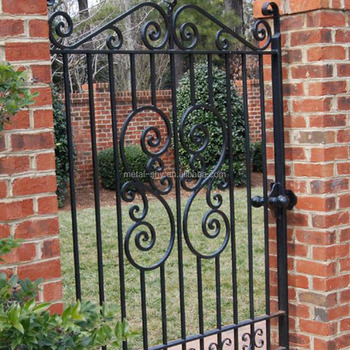 Wrought Iron Modern House Iron Garden Gate Design For Metal Gates