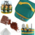Portable Spice Jars Sauce Condiment Bottles Containers Set For BBQ Camping Outdoor With Organize Carry Storage Bag