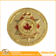 Promotion high quality custom gold plated round rcmp challenge coin