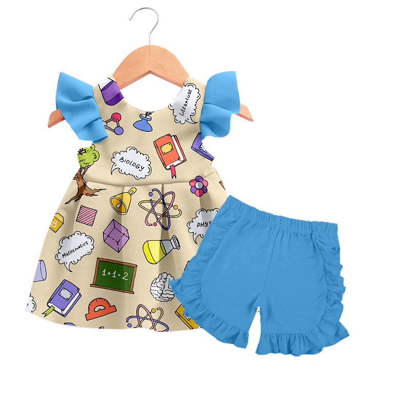 boutique trendy children clothes set wholesale made in