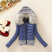 HQT! New Arrivals Winter Jacket Women Fashion Slim Big Fur Collar Warmth Outdoor Casual Down Coat Free Shipping H229