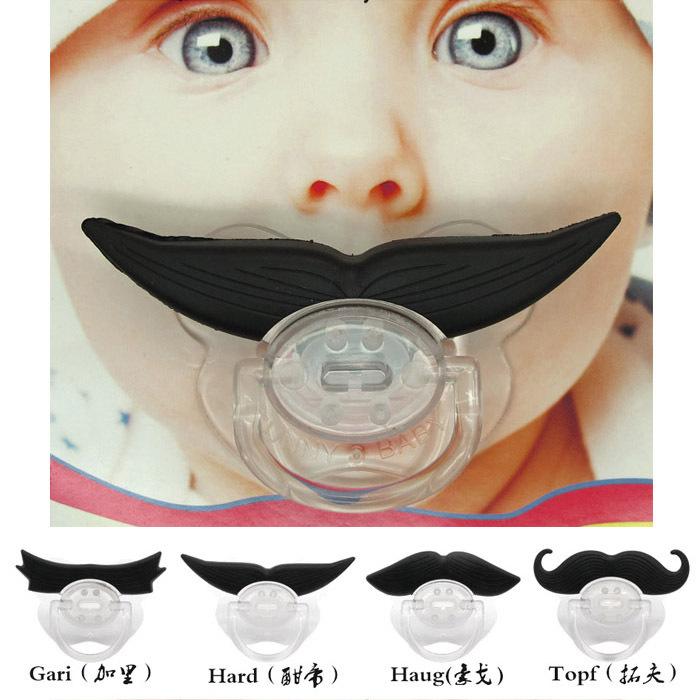 1 часть детской зеленый силикон соска-пустышка забавный манекен чайников смешные усы младенцы пустышки зубы и забавный дьявол