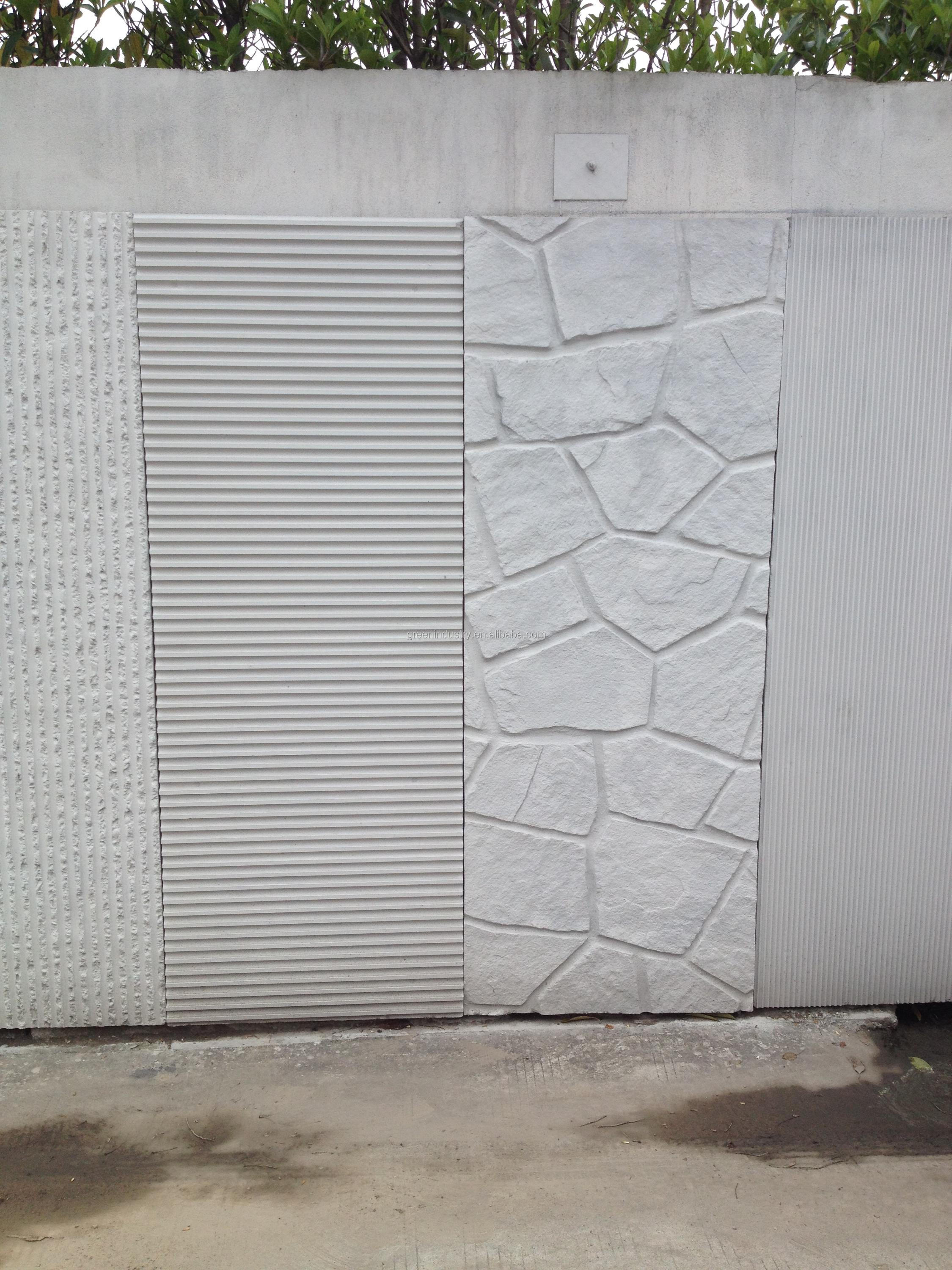 Facade Cladding Fireproof Cement Coating Decorative Sheet Exterior Wall Panel