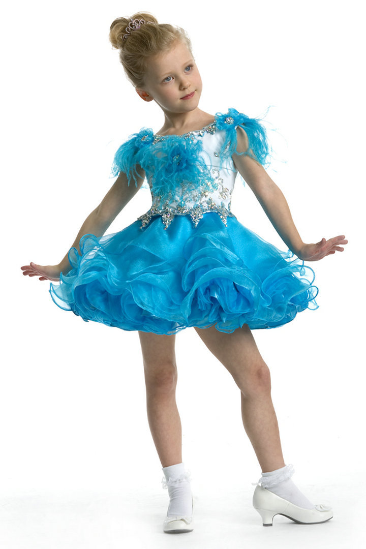 82bd9d05728 Get Quotations · Blue And White Girls Pageant Dresses Applique Beaded  Pageant Dresses For Little Girls Flower Girl Dresses