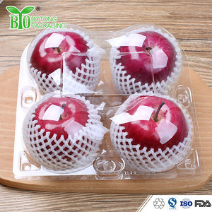 Clear plastic fruit apple packing box