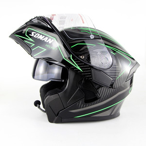 full face motorcycle helmets with built in intercom bluetooth DOT / ECE