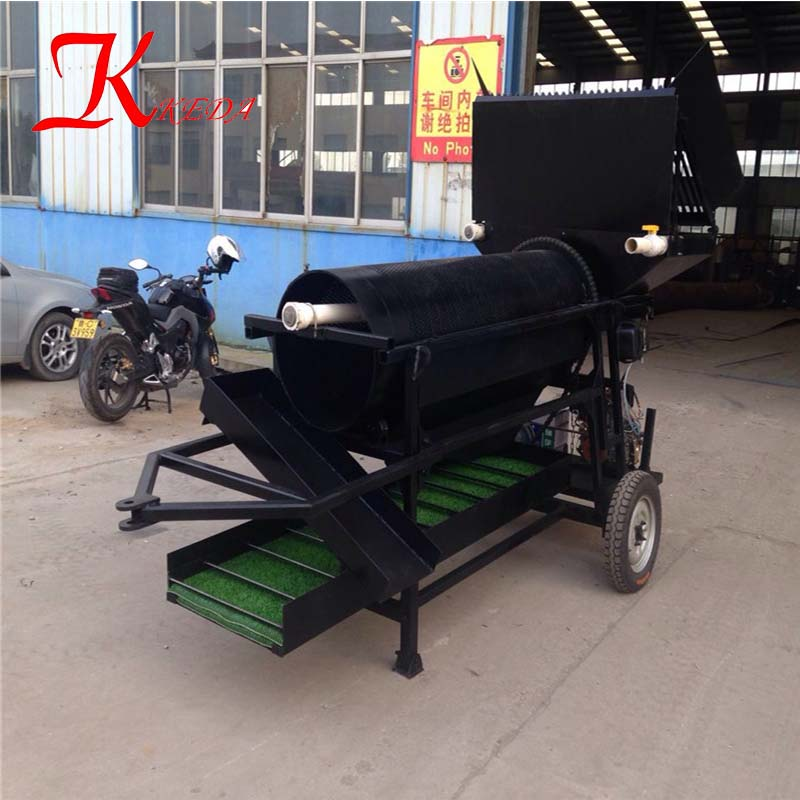 China Portable Reliable Work Gold Mining Machine/Mobile Trommel Scrubber Machine/Mini Gold Trommel For Sale