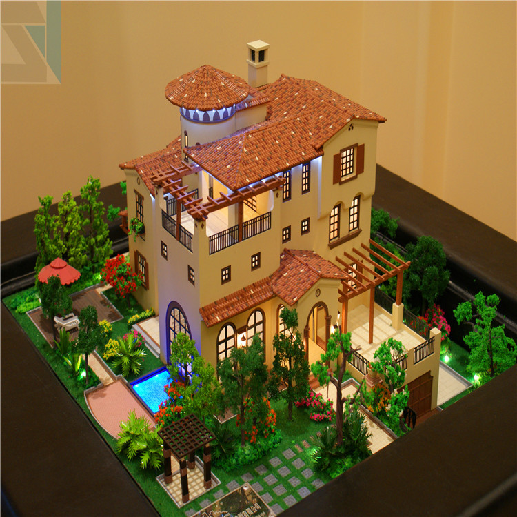 New architecture design for property exhibition building for 3d house model maker