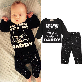 b9fb7287e01c6 Fashion Newborn Baby Boys Clothes Black Long Sleeve Letter T-shirt  Tops+pants 2pcs Casual Infant Baby Outfits Sets Hot Sell - Buy Newborn  Winter ...