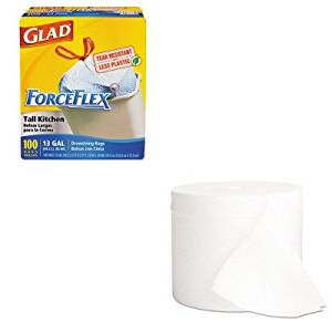 KITCOX70427KIM07001 - Value Kit - KIMBERLY CLARK KLEENEX COTTONELLE Two-Ply Coreless Bathroom Tissue (KIM07001) and Glad ForceFlex Tall-Kitchen Drawstring Bags (COX70427)