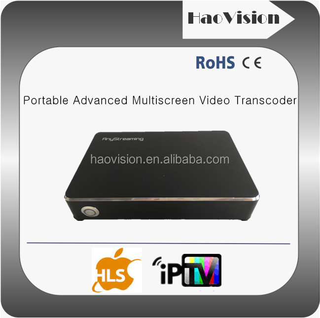 Portable H264 iptv transcoder OTT Apps h.264+AAC video to IP tv converter