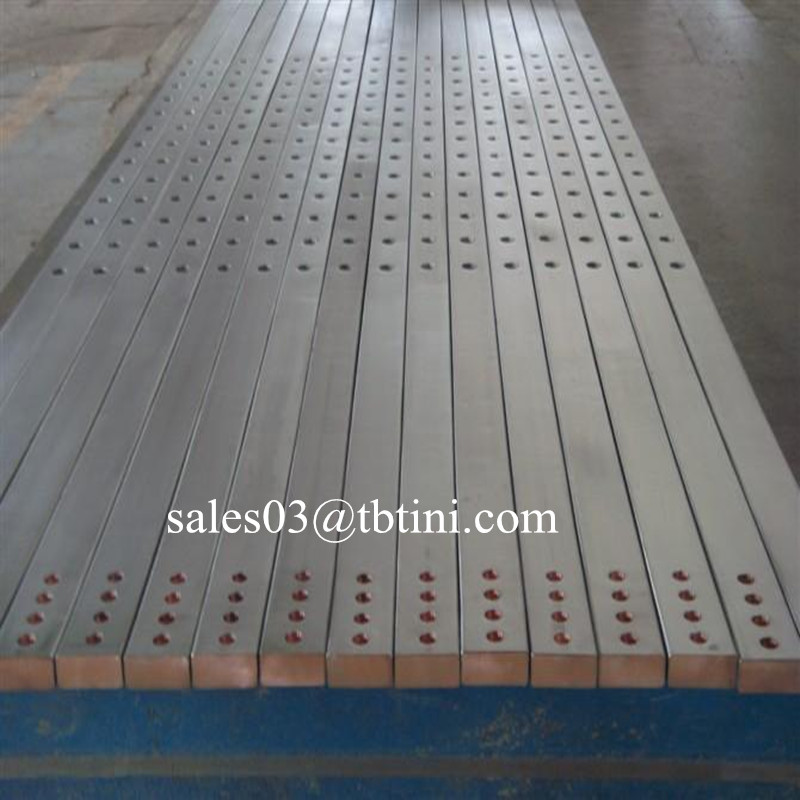 outside surface titanium nickel zirconium copper and internal steel SS copper composite bar/plate