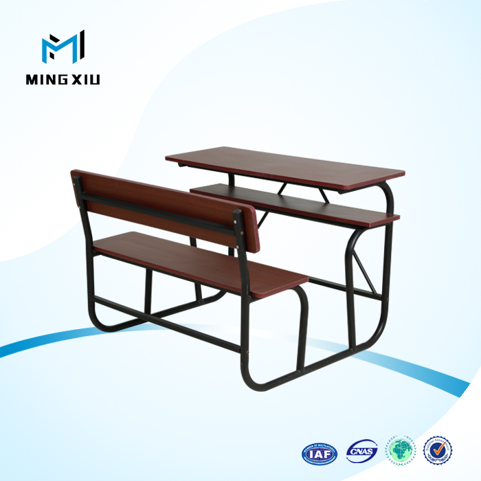 China mingxiu office furniture cheap school desks / double desk and chair