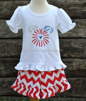567936bd54489 2018 kids summer applique cotton clothing children girl 4th of july clothes  wholesale baby girls boutique