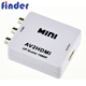 hot sale Mini Composite AV to HDMI Converter with CVBS Video+RCA Audio