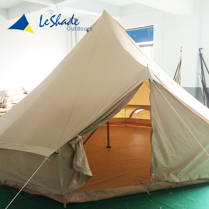 Skillful manufacture inflatable unique camping canvas camping heavy duty pop up gazebo tent