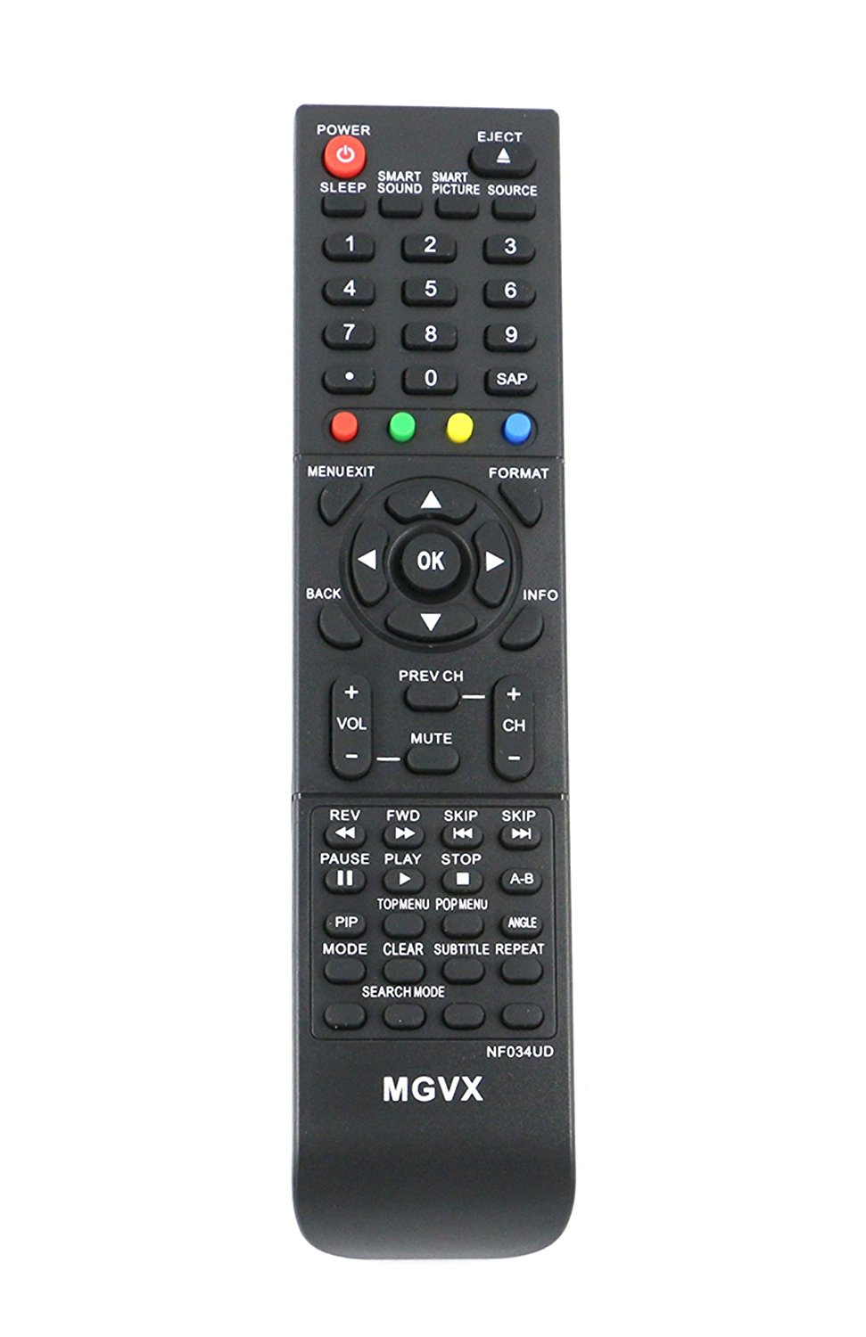 VINABTY NF034UD Replaced TV Blu-ray Combo Remote fit for Magnavox Philip TV DVD Player 42VD459B 42MD459B/F7