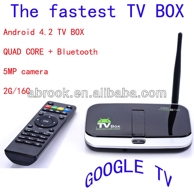 Bluetooth CS918S quad core <strong>android</strong> 4.2 smart <strong>tv</strong> <strong>box</strong> camera 5mp