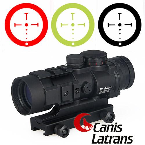 9f6f03e3c7 1-0309 militaire lunette de tir visée Chasse tactique airsoft Viseur point  rouge 3x Prism