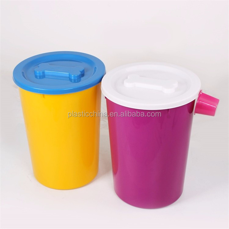 plastic animal feed barrel