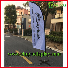 Durable Fiberglass Pole Display Printed Feather Flags Blade Flag Banner