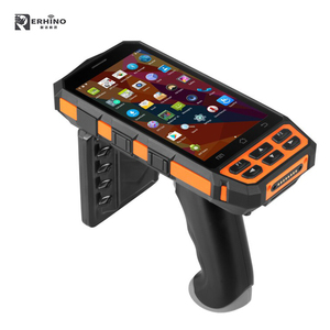 E-Rhino 5 inch Android Rugged Mobile Computer Industrial PDA Waterproof with Long Range RFID UHF Reader 1D/2D Barcode Scanner