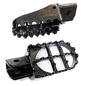 Motorcycle Motocross MX Dirt Bike Racing Foot Pegs For Yamaha PW50 PW80 TTR90 TW200 Gray