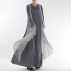 ready to ship summer new pure color long sleeve islamic women clothing kaftans jilbab muslim abaya