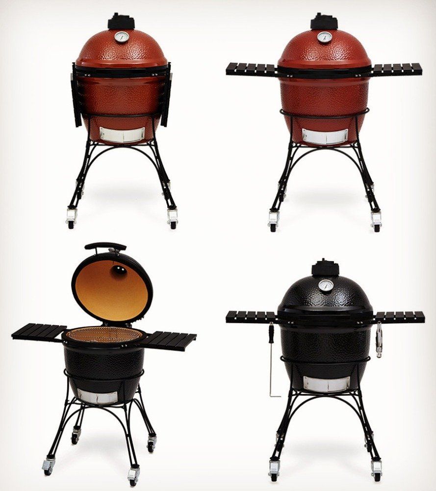 Ceramic Kamado Smoker Charcoal BBQ Barbecue Grills for Nature Flavor Cooking