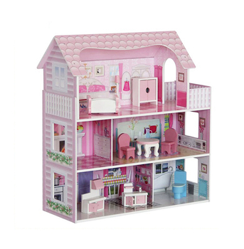 Weifu Wholesale Birthday Gift Small Size 3d Diy Pink Wooden Doll House Buy Wooden Doll Housedoll House Small Sizedollhouse Wood Product On