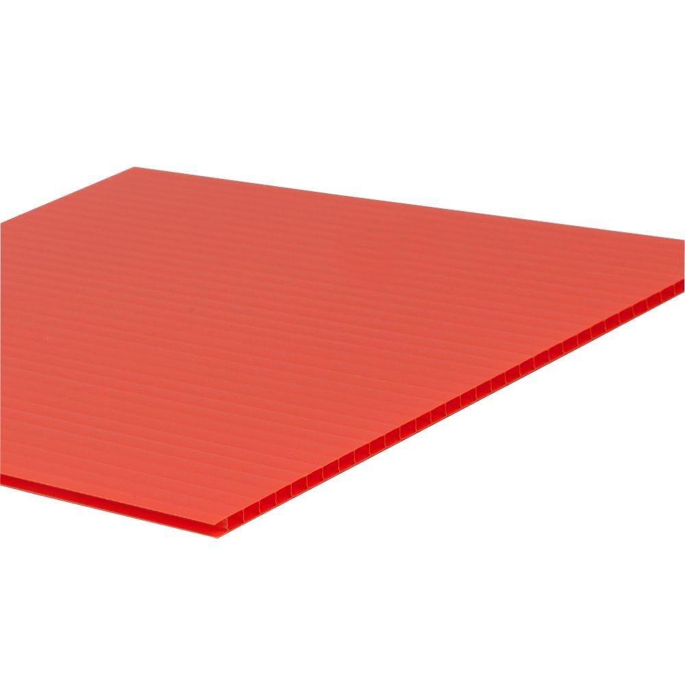 Plastic Corrugated Fluted Plastic Sheet 4mm Falken Design CYL-YL-4MM//1010 Coroplast Sign Board 10 x 10 0.157 Yellow