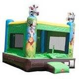 Inflatable 15 Foot High Jungle Adventure Bounce House Includes Free Blower, Free Shipping and Accesories