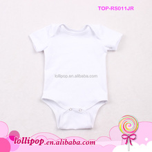New arrival! Short sleeve plain white organic cotton protective body suit