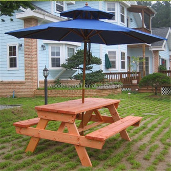 Wooden Folding Portable Picnic Table With 4 Seats